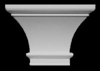 Капитель пилястры гладкая С322-220/ HKP 15G - Архитектурный декор, лепнина, компания Солид, Екатеринбург