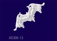 AD308-13 Угловой элемент с рисунком/30*30*3см - Архитектурный декор, лепнина, компания Солид, Екатеринбург