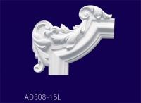 AD308-15L Угловой элемент с рисунком - Архитектурный декор, лепнина, компания Солид, Екатеринбург