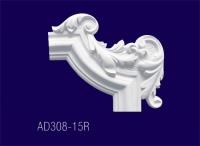 AD308-15R Угловой элемент с рисунком - Архитектурный декор, лепнина, компания Солид, Екатеринбург