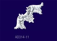 AD314-11/ Угловой элемент с рисунком - Архитектурный декор, лепнина, компания Солид, Екатеринбург