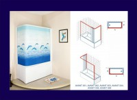 Душевое ограждение на ванну угловое 750*1500 - Архитектурный декор, лепнина, компания Солид, Екатеринбург