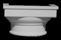 Капитель колонны гладкая С325-185/ G - Архитектурный декор, лепнина, компания Солид, Екатеринбург